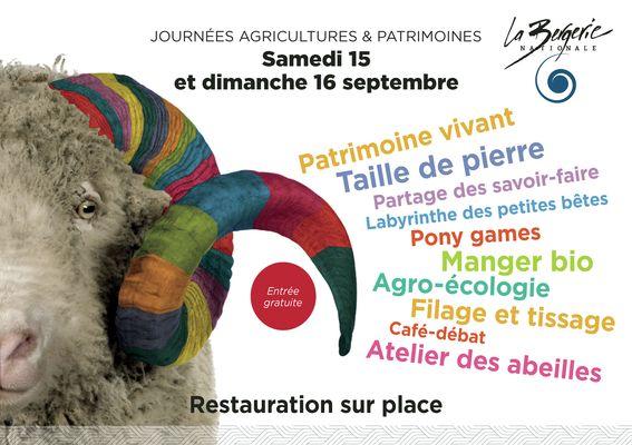 La Bergerie Nationale - Journées Agricultures et Patrimoines 2018 flyer_Page_1