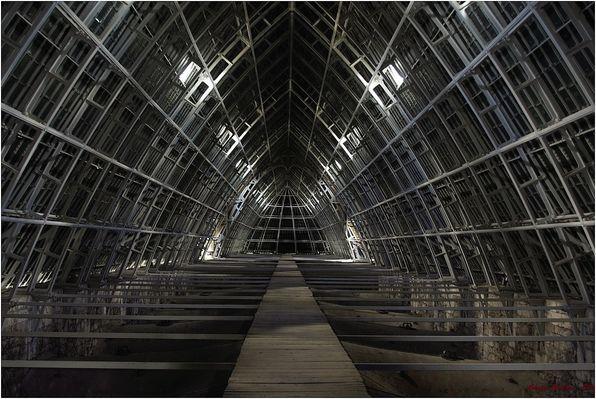 Les grands combles de la cathédrale de Chartres
