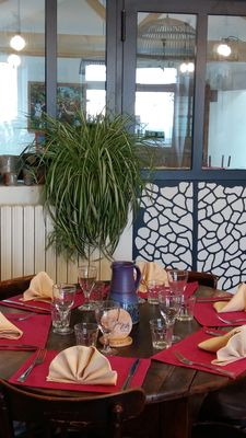 A table...