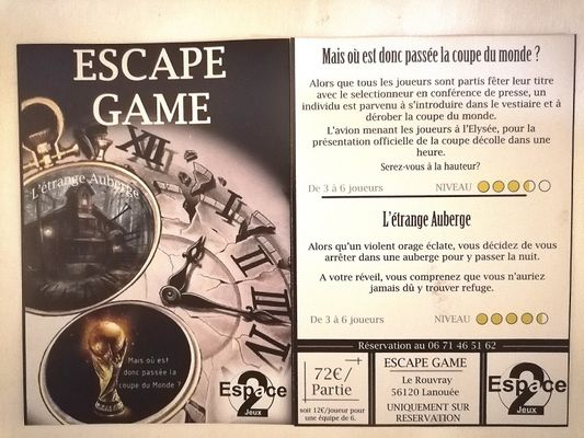 Escape game Espace 2 jeux - Forges de Lanouée