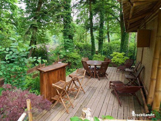 Cabane Bambou-8 Camping d'Aleth St-Malo de Beignon Brocéliande