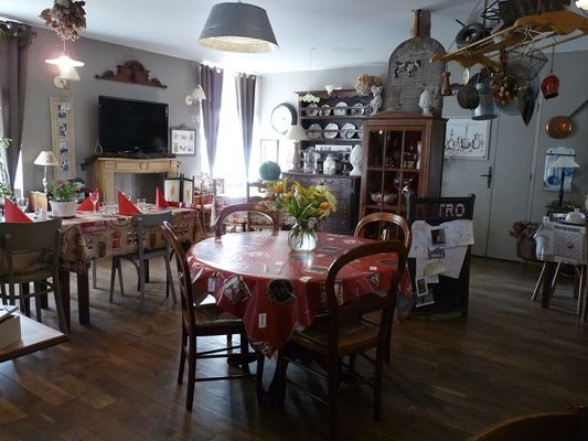 Chambres de charme le Moulin de la Béraudaie salle des repas - Bohal - Morbihan - Bretagne