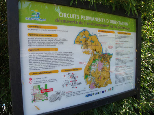 Circuits d'orientation Roc-St-André panneau de départ général