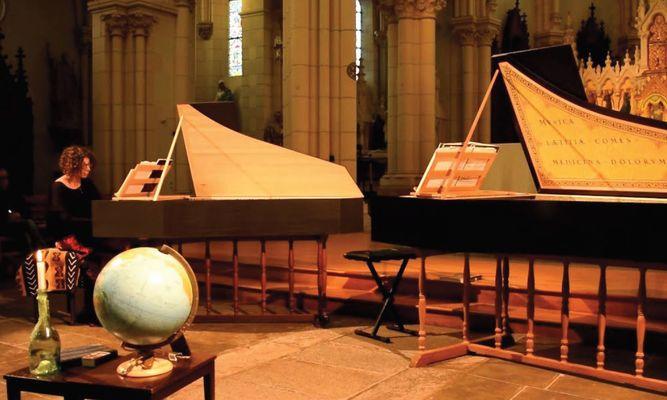 Musique baroque à 2 clavecins - © Cie La Pie qui joue