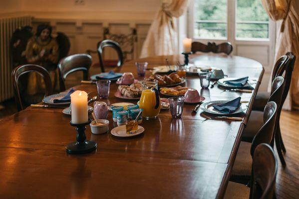 Petit déjeuner chambres d'hotes
