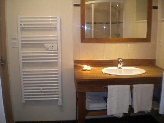 Salle de bain bas  - Gite la ville es olive