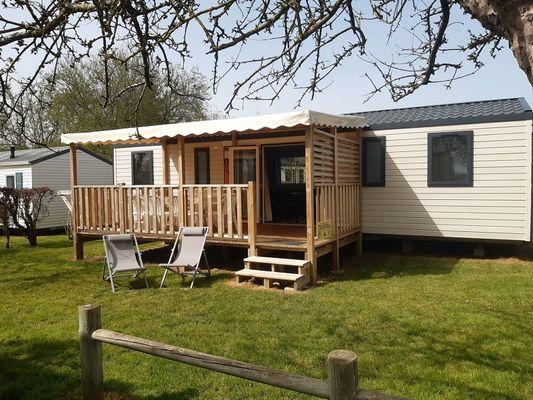 Camping - vallée du Ninian - mobil home XXL Roi Arthur - Taupont - Morbihan