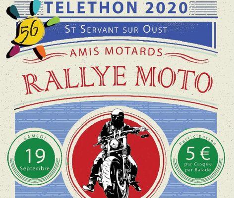rallye moto telethon st servant