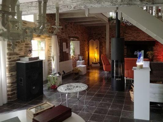 roulotte des courtils - salon - Ploërmel-Brocéliande-Bretagne