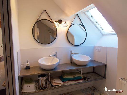 Chambres d'hôtes Les Hortensias - Chambre La porte des secrets - La Croix-Helléan - Morbihan - Bretagne