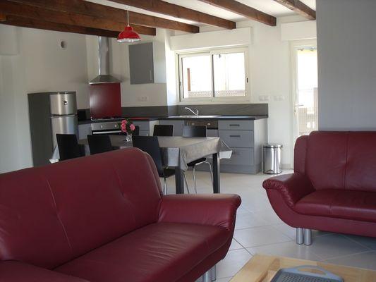 Gîtes de l'Oust T3 séjour - Saint-Marcel