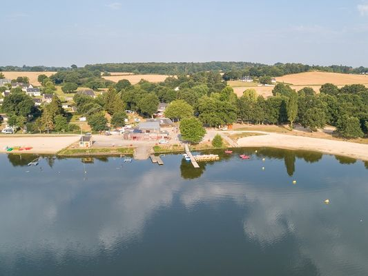 base nautique - lac au duc - vue aérienne - Taupont - Morbihan