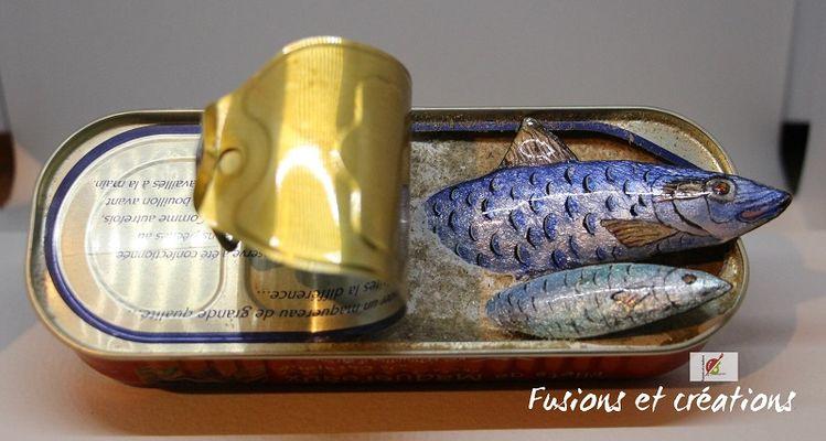 Sardines sortant de la boite WEB @Fusions&Créations