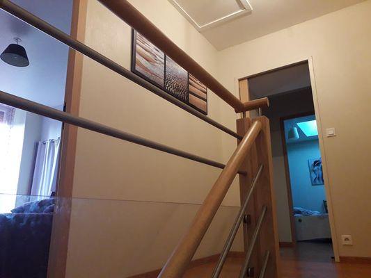 Escalier  -  Gite la ville es olive