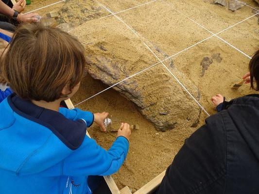 Atelier fouilles - Menhirs de Monteneuf - Broceliande