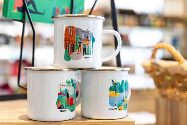 Mug émaillé, gamme identitaire Destination Angers
