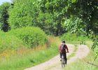Cycliste chemins Montfort sur Meu
