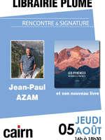 Rencontre et signature avec Jean Paul Azam à la librairie Plume