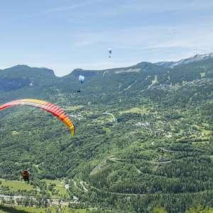 Compétition de marche et vol en parapente - La Traverciel