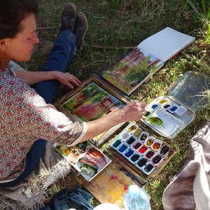 Stage d'aquarelle : « Écrire le paysage, ses «tissages» et les textures du vivant »