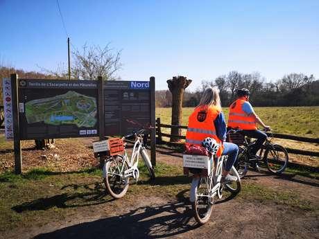 Échappée à vélo électrique - Rouge brique et Noir charbon