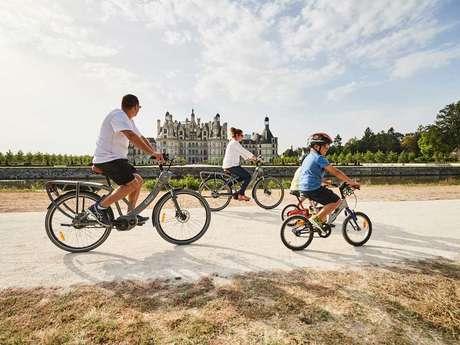 Chambord à vélo en famille