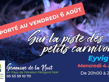 Semaine de la nuit : Sur la piste des petits carnivores à Eyvigues