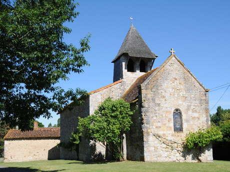 Église Saint-Martin et croix hosannière à Moussac sur Gartempe