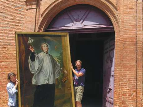 Two restored Jesuit paintings
