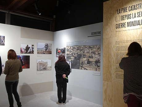 Visite guidée de l'exposition photographique « Sur le front syrien »
