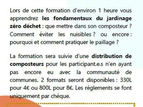 Formation compostage-paillage et distribution de composteurs