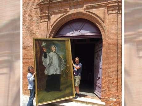 Deux tableaux de saints jésuites restaurés