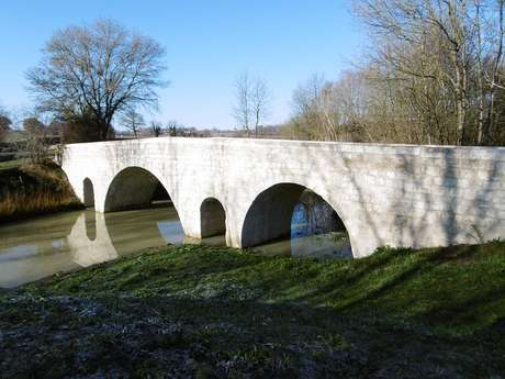 PONT DE LARTIGUE ENTRE LARRESSINGLE ET BEAUMONT