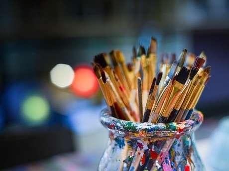 Atelier peinture à l'huile et clair-obscur