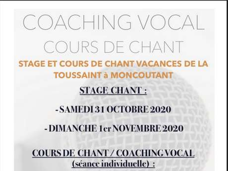Stage de coaching vocal