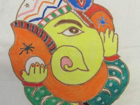 Atelier peinture pour les enfants au musée
