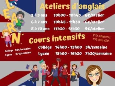 Atelier d'anglais pour enfants