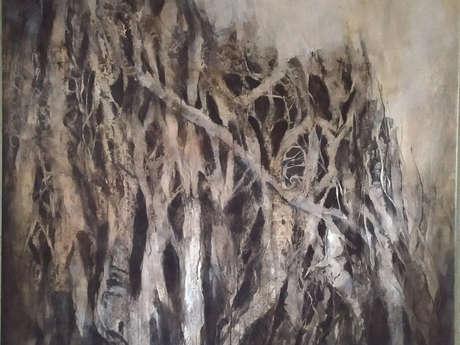 Vernissage de l'exposition de peintures d'Isabelle Vialle