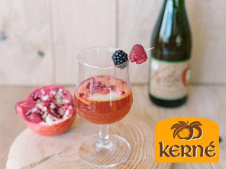 Dégustation de cocktails à base de cidre et jus de pomme Kerné