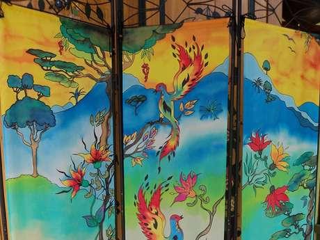 L'Atelier de Languivoa - Peinture sur soie - Catherine Couavoux