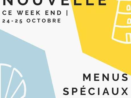 Menu spécial Coquille Saint-Jacques Nouvelle