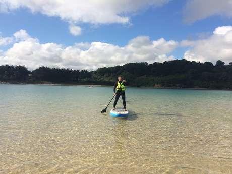 La lagune de Sables d'Or-les-Pins en paddle
