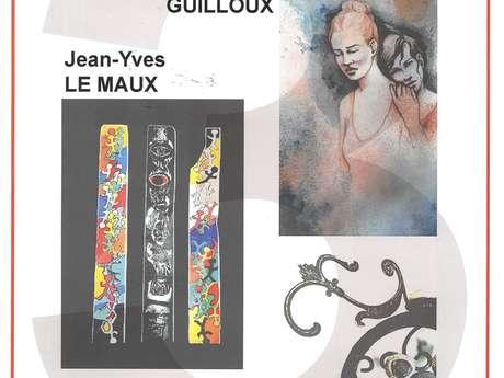 Exposition Véronique Guilloux, Jean-Yves Le Maux et Marie-N Josse