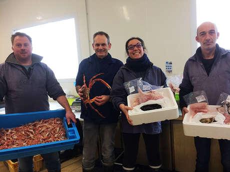 Terre de Pêche : vente poissons et crustacés