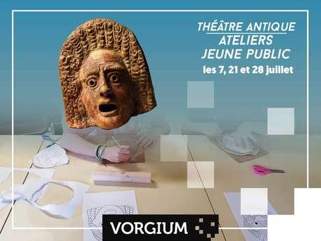 L'atelier jeune-public : masque de théâtre antique