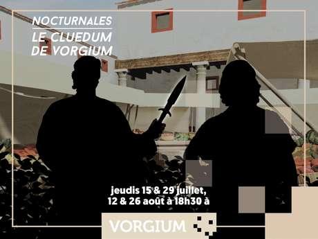 Le Cluedum de Vorgium en nocturne
