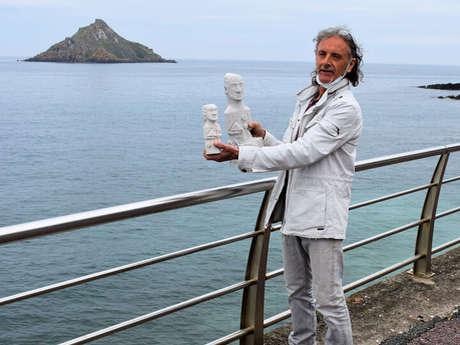 Sculpture de St Symphorien : visite du chantier