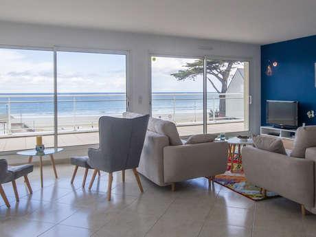 GLAZ-ZEN, sur la plage, vue mer panoramique