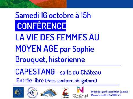 CONFÉRENCE : LA VIE DES FEMMES AU MOYEN-AGE