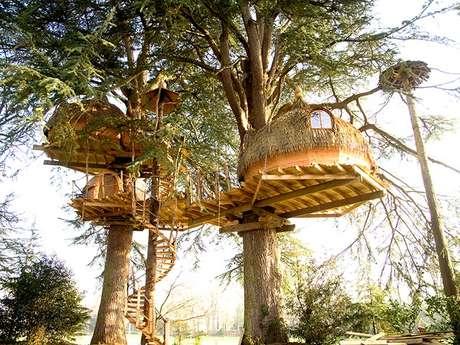 Cabanes dans les arbres Les Ormes Domaine & Resort
